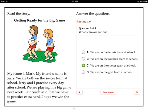 Itunes books second grade reading comprehension by aaron levy