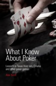 Alex Scott - What I Know About Poker: Lessons in Texas Hold'em, Omaha and Other Poker Games  artwork