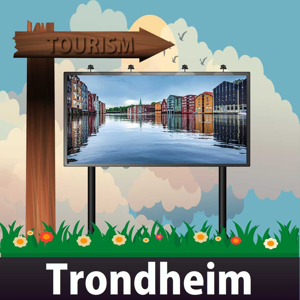 Trondheim Travel Guide - Offline Map