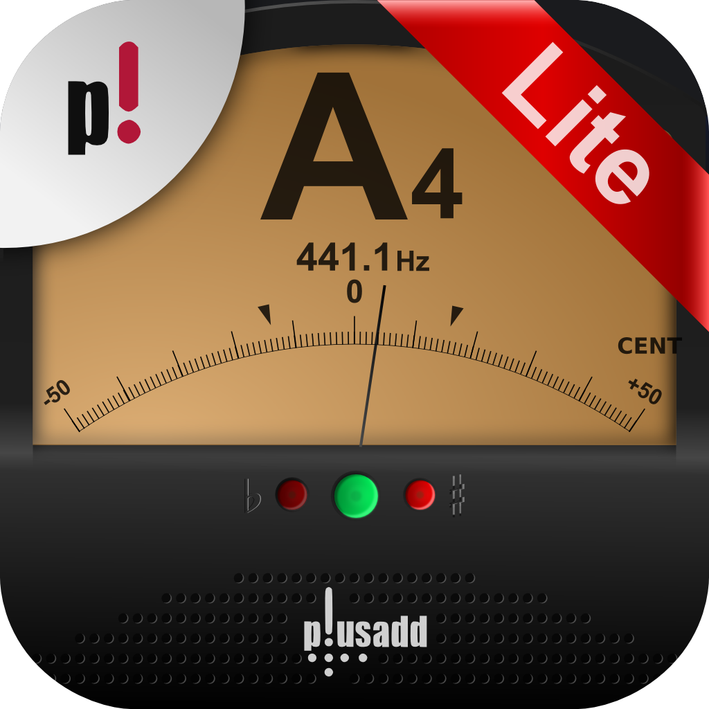 楽器チューナー Lite by plusadd – ギター、ウクレレ、ベース、ヴァイオリン用のチューナー