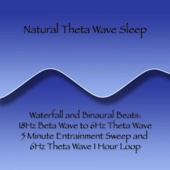 Waterfall and Binaural Beats: 18Hz Beta Wave to 6Hz Theta Wave 5 Minute Entrainment Sweep and 6Hz Theta Wave 1 Hour Loop