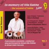 In Memory of Alla Rakha - The Wizard of Tabla, Vol. 1