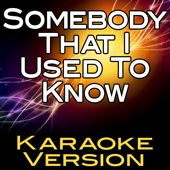 Somebody That I Used to Know (Karaoke Version)