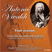 """Four Seasons. Concertos for Violin and Orchestra, Op.8: Concerto No.4 in F Minor, """"Winter"""": 1. Allegro - Chamber Orchestra of St. Petersburg Philharmonic, Lev Shinder, Mikhail Vaiman & Artistic director Lev Shinder"""