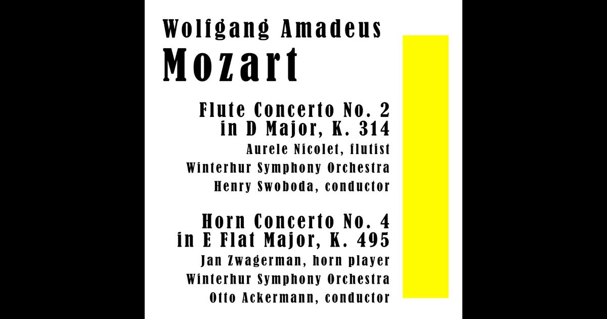 A discussion on mozarts flute concerto no 2 in d