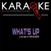 What's Up (In the Style of 4 Non Blondes) [Karaoke Version]