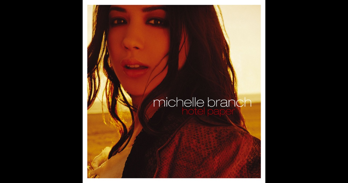 michelle branch hotel paper When 17 year-old michelle branch broke onto the scene two years ago, her timing could not have been better in a pop music world that was dominated by tarted-up barbie dolls like britney spears and christina aguilera, here was one young woman who gave us some incredibly catchy hits that had a littl.