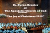 The Joy of Christmas 2010, Apostolic Church of God & Dwayne Woods