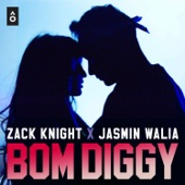 Zack Knight & Jasmin Walia - Bom Diggy artwork