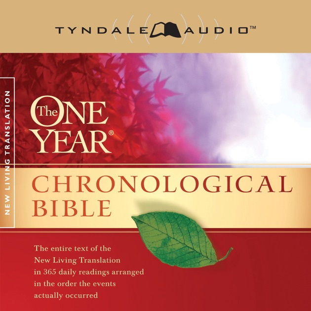 The One Year Chronological Bible Nlt Unabridged By border=