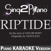Riptide (In the Style of Taylor Swift) [Piano Karaoke Version]