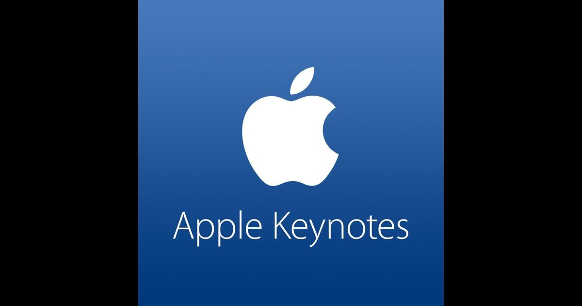 Apple Keynotes by Apple on iTunes