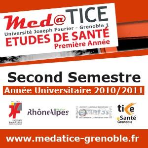 med@TICE PAES Second Semestre 2010/2011 - Audio - Faculté de Médecine et de Pharmacie de Grenoble - Université Joseph Fourier Grenoble 1 (UJF)