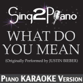 What Do You Mean (Originally Performed by Justin Bieber) [Piano Karaoke Version]