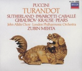 Turandot: Non piangere Liù - Luciano Pavarotti, Montserrat Caballé, Nicolai Ghiaurov, Tom Krause, Pier Francesco Poli, Piero de Palma, John Alldis Choir, London Philharmonic Orchestra & Zubin Mehta