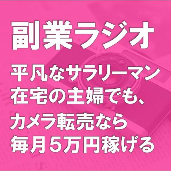 副業ラジオ~ネット初心者のサラリーマン・在宅の主婦でも、カメラ転売なら毎月5万円稼げる~長尾 俊秀(ながお としひで)