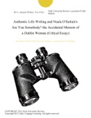 Authentic Life-Writing and Nuala O'faolain's Are You Somebody? the Accidental Memoir of a Dublin Woman (Critical Essay)