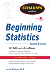 Schaums Outline Of Beginning Statistics Second Edition