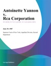 Antoinette Yannon V Rca Corporation