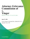 Attorney Grievance Commission Of V Yinger