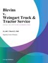 Blevins V Weingart Truck  Tractor Service
