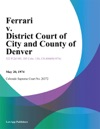 Ferrari V District Court Of City And County Of Denver