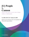 U People V Cannon