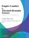 Empire Lumber V Thermal-Dynamic Towers