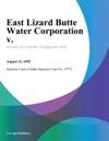 083192 East Lizard Butte Water Corporation V