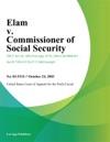 Elam V Commissioner Of Social Security