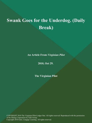 Swank Goes for the Underdog Daily Break