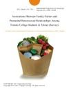Associations Between Family Factors And Premarital Heterosexual Relationships Among Female College Students In Tehran Survey