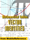 Mathematical Tables Vector Identities