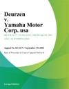 Deurzen V Yamaha Motor Corp Usa