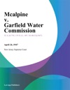 Mcalpine V Garfield Water Commission