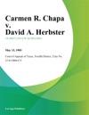 Carmen R Chapa V David A Herbster
