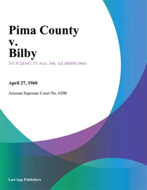 PIMA COUNTY V. BILBY