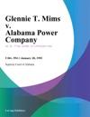 Glennie T Mims V Alabama Power Company