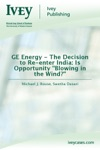GE Energy - The Decision To Re-enter India Is Opportunity Blowing In The Wind