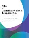 Allen V California Water  Telephone Co