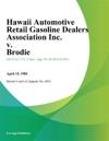 Hawaii Automotive Retail Gasoline Dealers Association Inc V Brodie