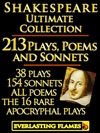 William Shakespeare Complete Works Ultimate Collection 213 Plays Poems  Sonnets Including The 16 Rare Hard-to-get Apocryphal Plays PLUS FREE BONUS Material
