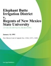 Elephant Butte Irrigation District V Regents Of New Mexico State University