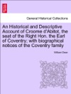 An Historical And Descriptive Account Of Croome DAbitot The Seat Of The Right Hon The Earl Of Coventry With Biographical Notices Of The Coventry Family