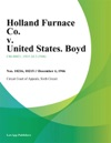 Holland Furnace Co V United States Boyd