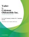 Yadav V Coleman Oldsmobile Inc