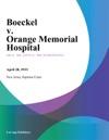 Boeckel V Orange Memorial Hospital