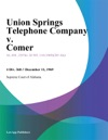 Union Springs Telephone Company V Comer