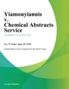 Yiamouyiannis V Chemical Abstracts Service