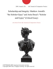 The Scholar Gipsy Critical Analysis Essay - image 2